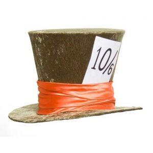 Alice in Wonderland Mad Hatter Deluxe Velvet Top Hat - Green