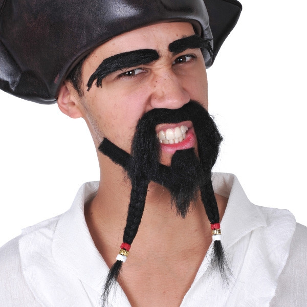 Pirate Facial Hair Kit - Black