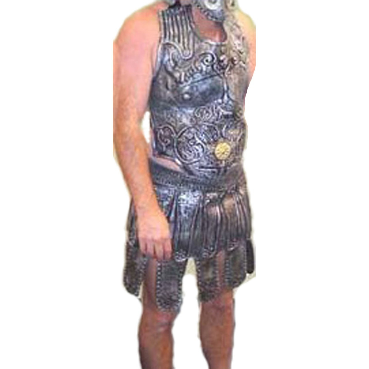 Warrior - Roman Breast Plate and Skirt Mens Costume