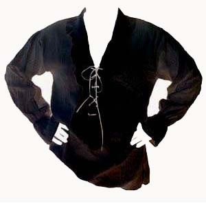 Pirate Black Shirt Mens Costumes