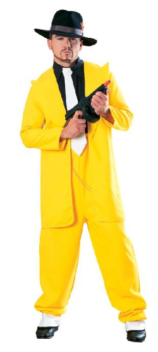 1920's Yellow Zoot Suit Gangster Mens Costume