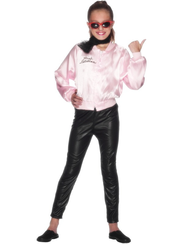 Grease Pink Lady Jacket Girls Costume