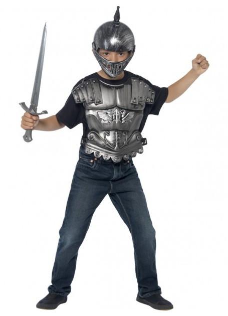 Medieval Knight Helmet & Armour Set Kids