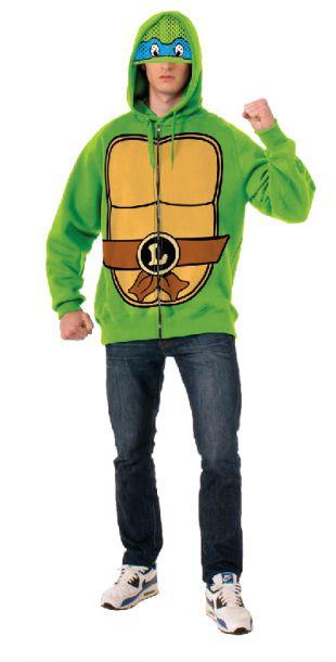 Teenage Mutant Ninja Turtles - Leonardo Hoodie Mens Costume