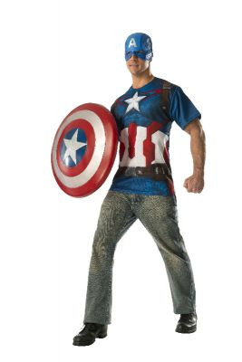 Captain America T-Shirt Mens Costume