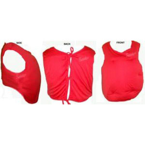Santa Tummy - Red Vest