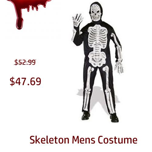 Skeleton Mens Costume cheap